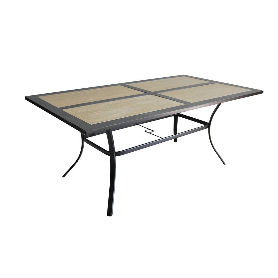 Garden Treasures Folcroft 39.84 In W X 71.5 In L Rectangle Steel Dining  Table