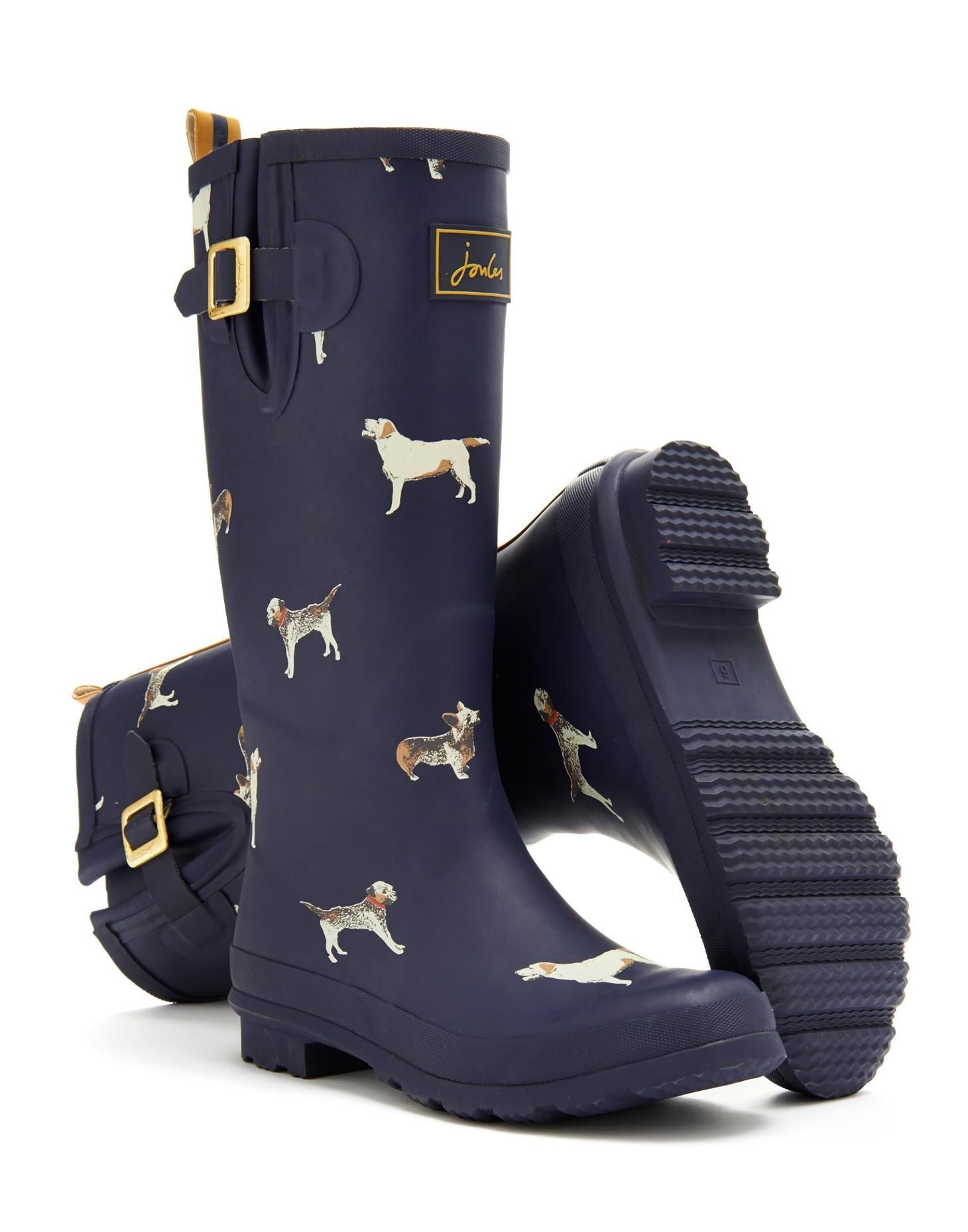 Waterproof Wet Boots Wellington Boots Short Bee Gold Wellies Joules Ankle