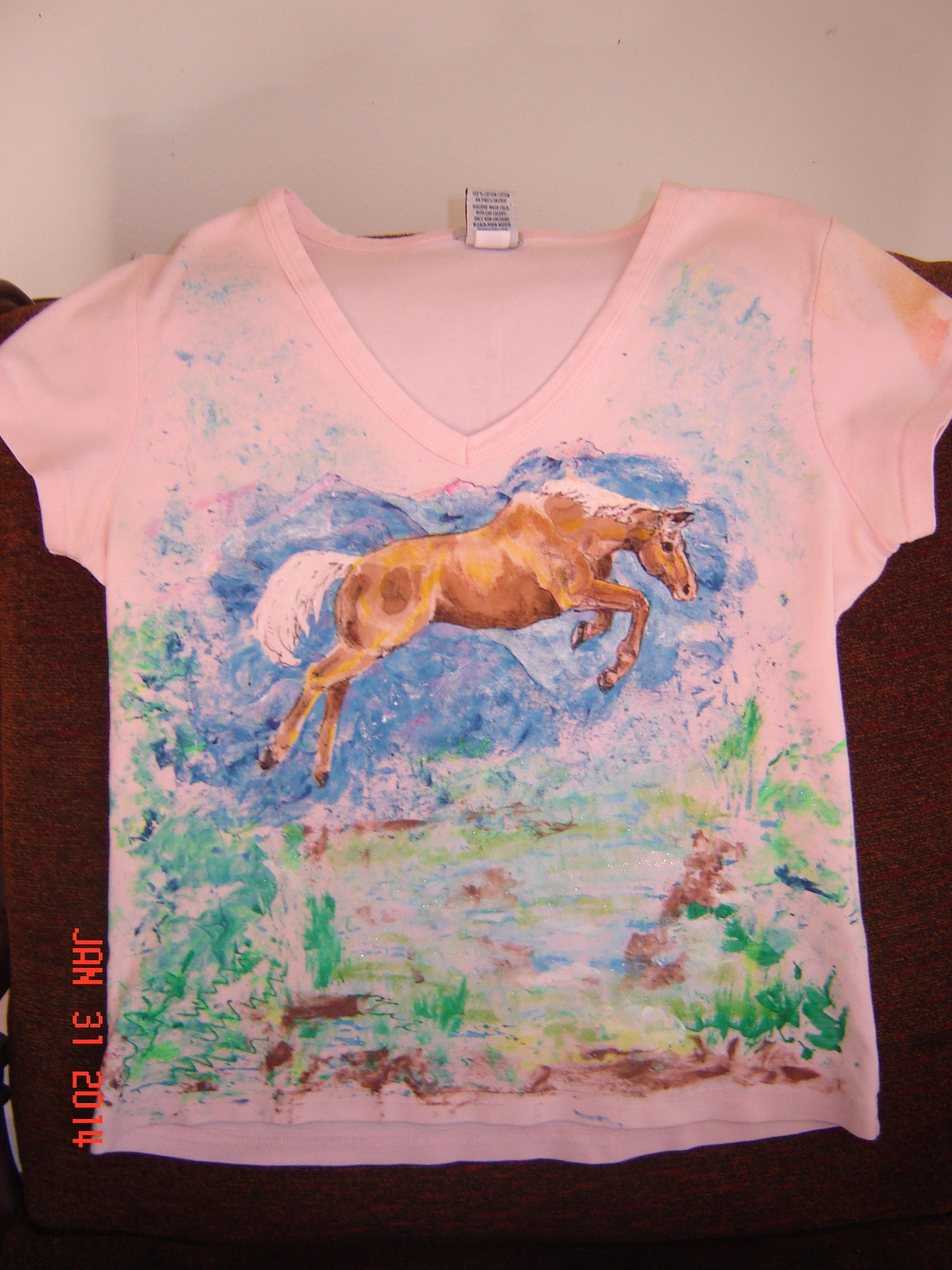 Free Ink Pens Fabric Paint Free Hand Horse With Ink Pens But The Horse Faded