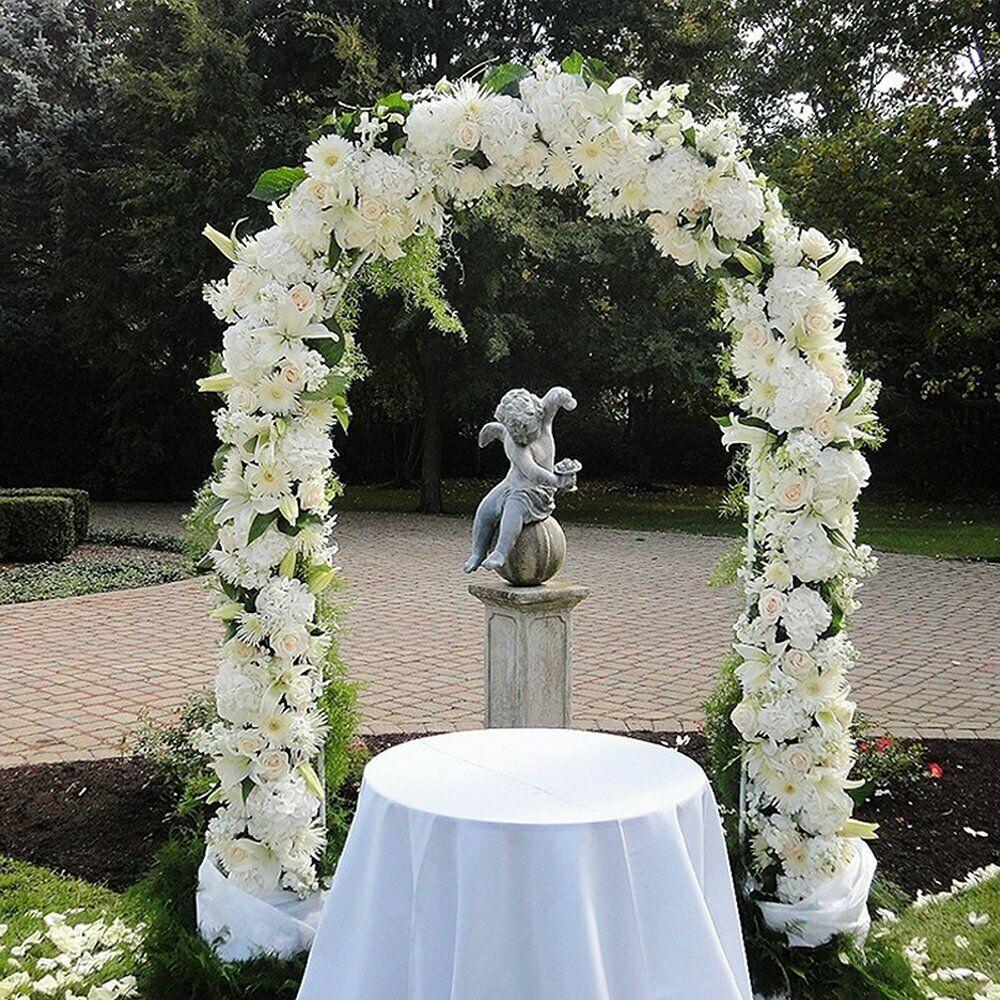 1/3 Pack 7.5 Ft Lightweight White Metal Arch Wedding