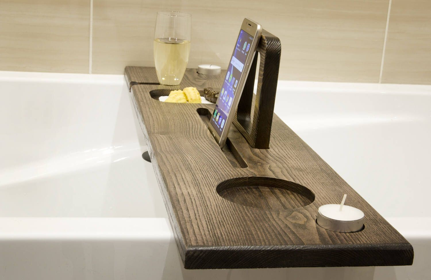 Pin By Megan Trounter On Ideas Wine Stand Bath Board