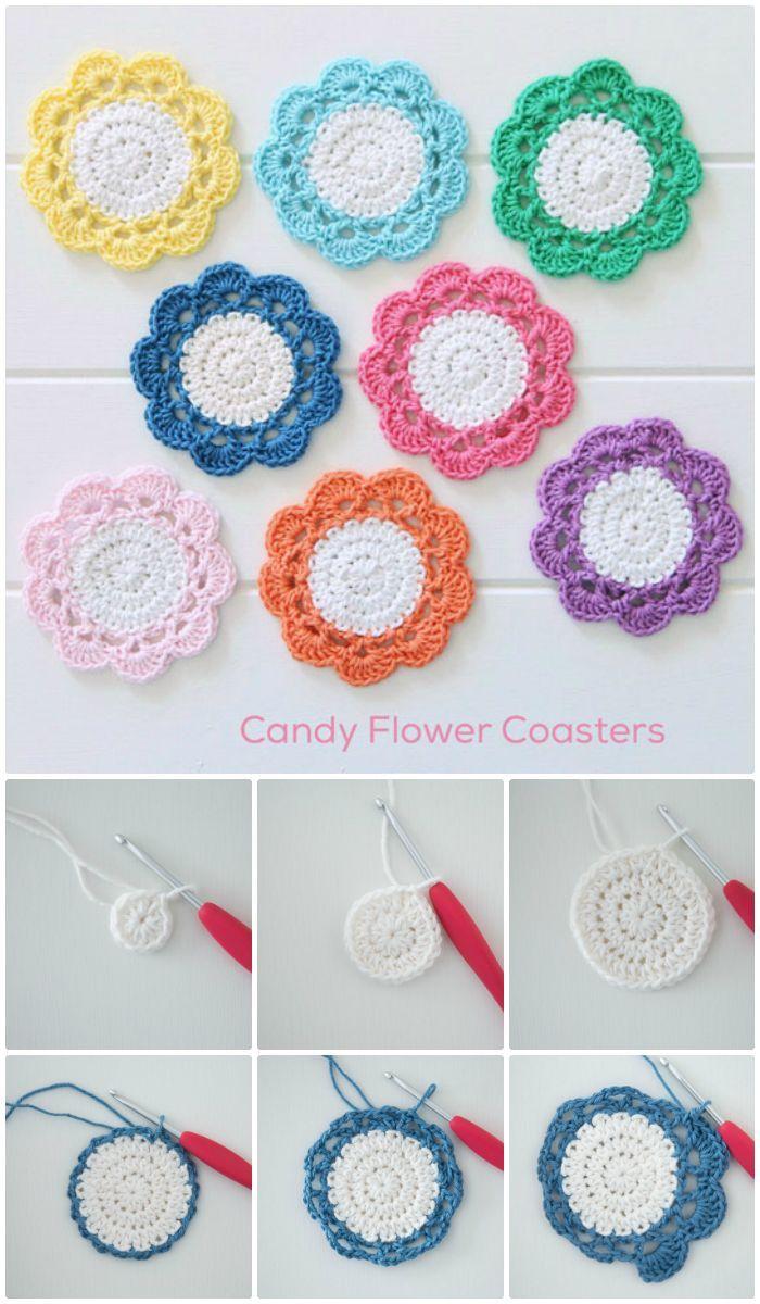 70 Easy Free Crochet Coaster Patterns for Beginners | Pinterest ...