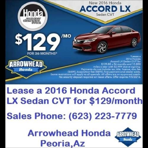 At Honda Dealers AZ Arrowhead Honda We Offer New Honda Cars In Peoria,  Along With