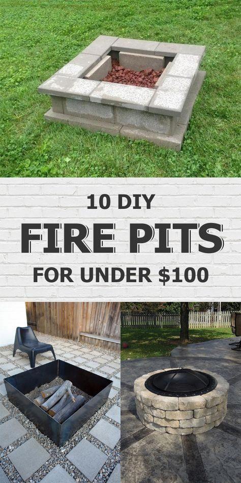 10 einfache DIY-Feuerstellen, die Sie für unter 100 US-Dollar verdienen können