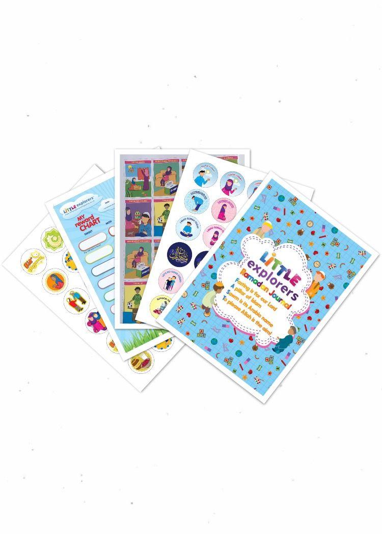 Kids Calendar With Activity Stickers : Ramadan kids pack ramadan activites ramadan