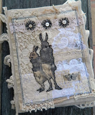 Rabbit Fabric Journal