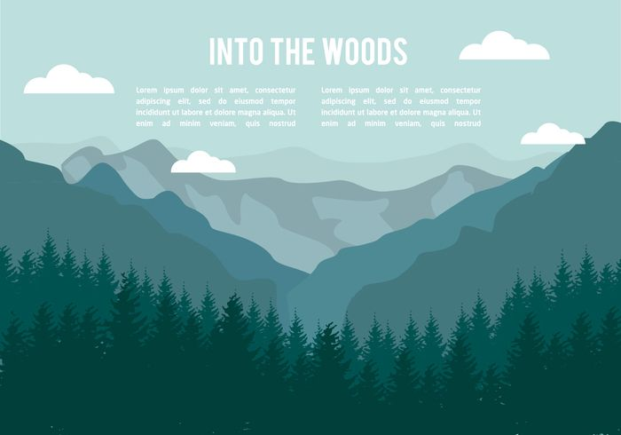 Free Flat Mountains Landscape Vector Mountain Landscape Landscape Illustration Landscape Drawings