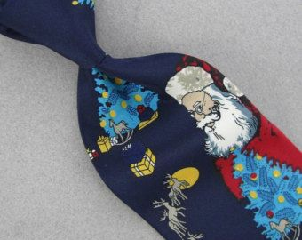 Parquet Santa Reindeer Black Blue Red Christmas Men Necktie Tie  X6-12 Designer Xmas ties