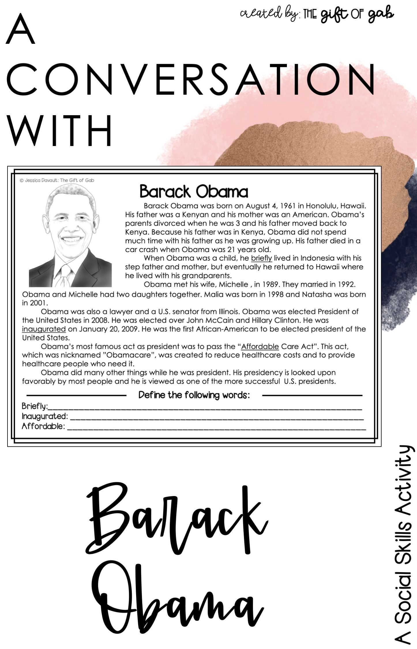 Barack Obama Worksheet Printable Learning How To Read