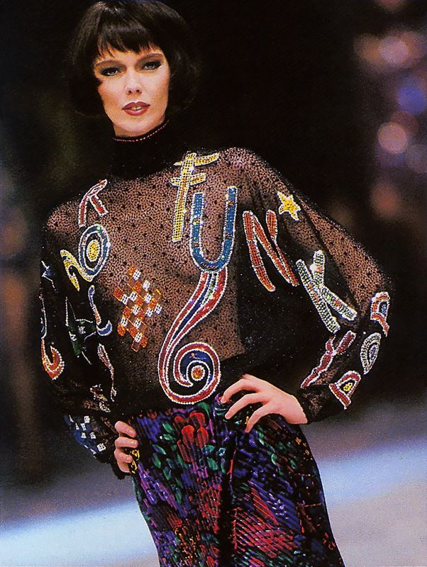 Gianni versace f w 1989 model brynja sverris 80ies fashion - 80er damenmode ...