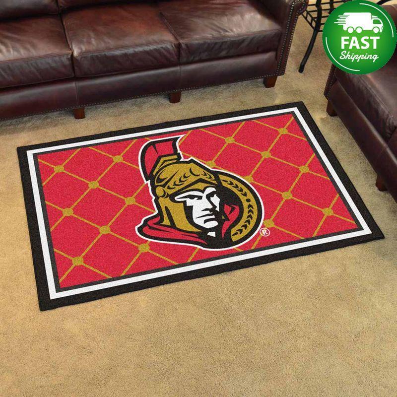 Nhl Ottawa Senators Rug Carpet Living Room Decor
