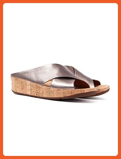 9096426249806 FitFlop Women s Kys Leather Slide Sandals Bronze 08   Sunscreen Spray  Bundle - Sandals for women ( Amazon Partner-Link)