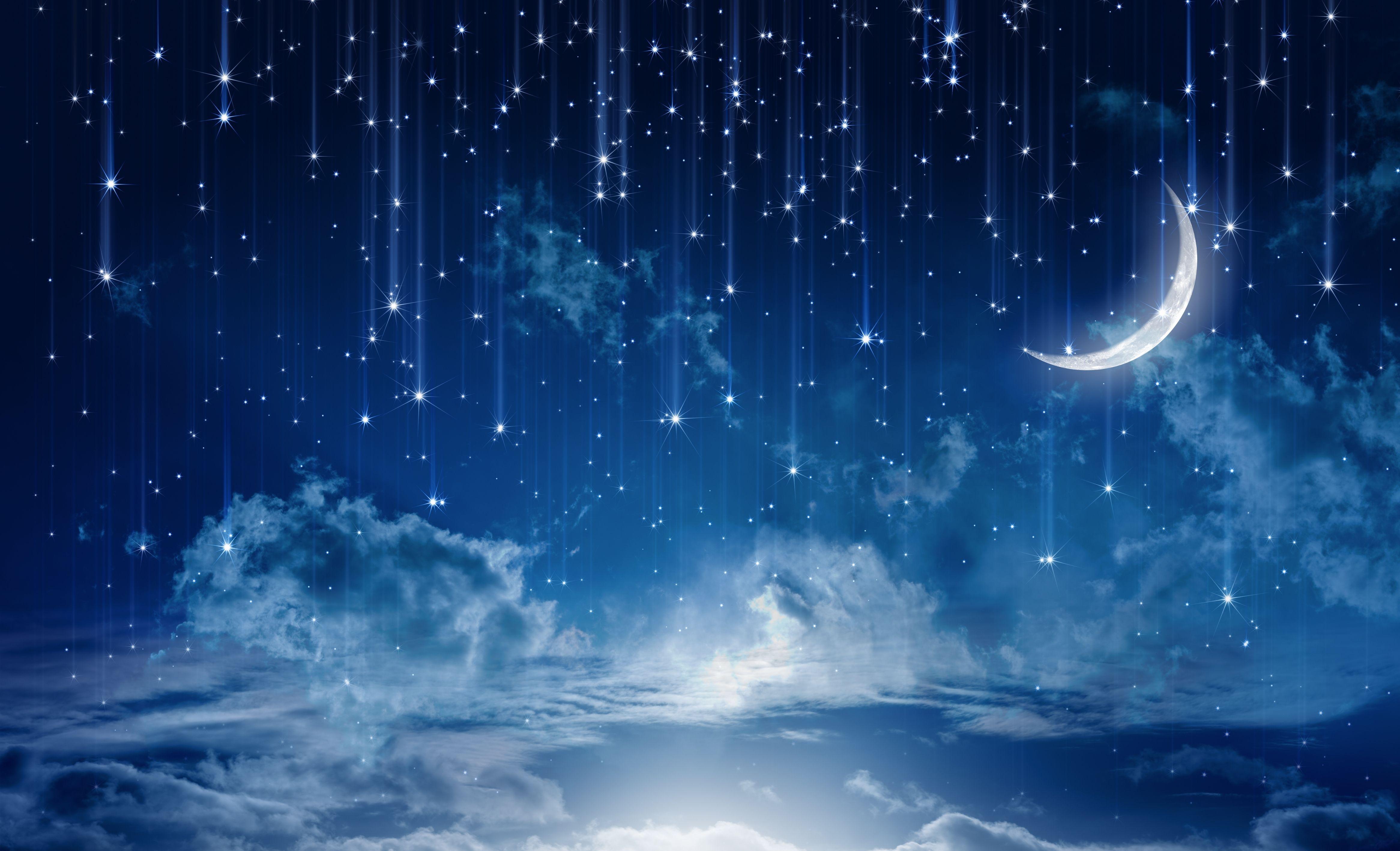 Très Ciel Étoile Lune Nuage Nature | clair de lune | Pinterest | Ciel  TS72