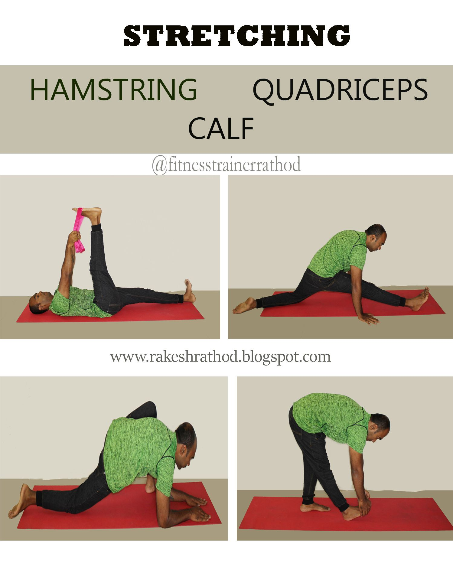Learn Stretching Exercises For Hamstring Quadriceps And