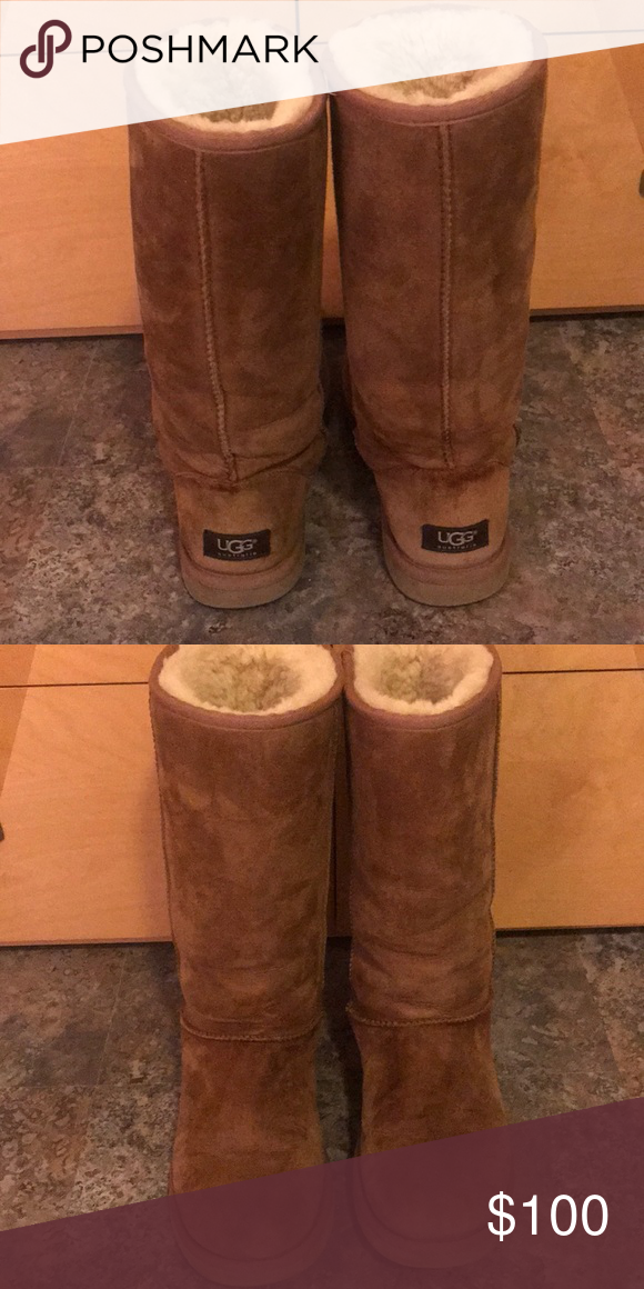 UGG Classic Tall Boots in Chestnut color Authentic tall UGG