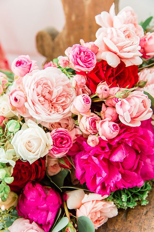 Drenched in Love Valentine\'s Day Wedding Inspo | Wedding, Flowers ...