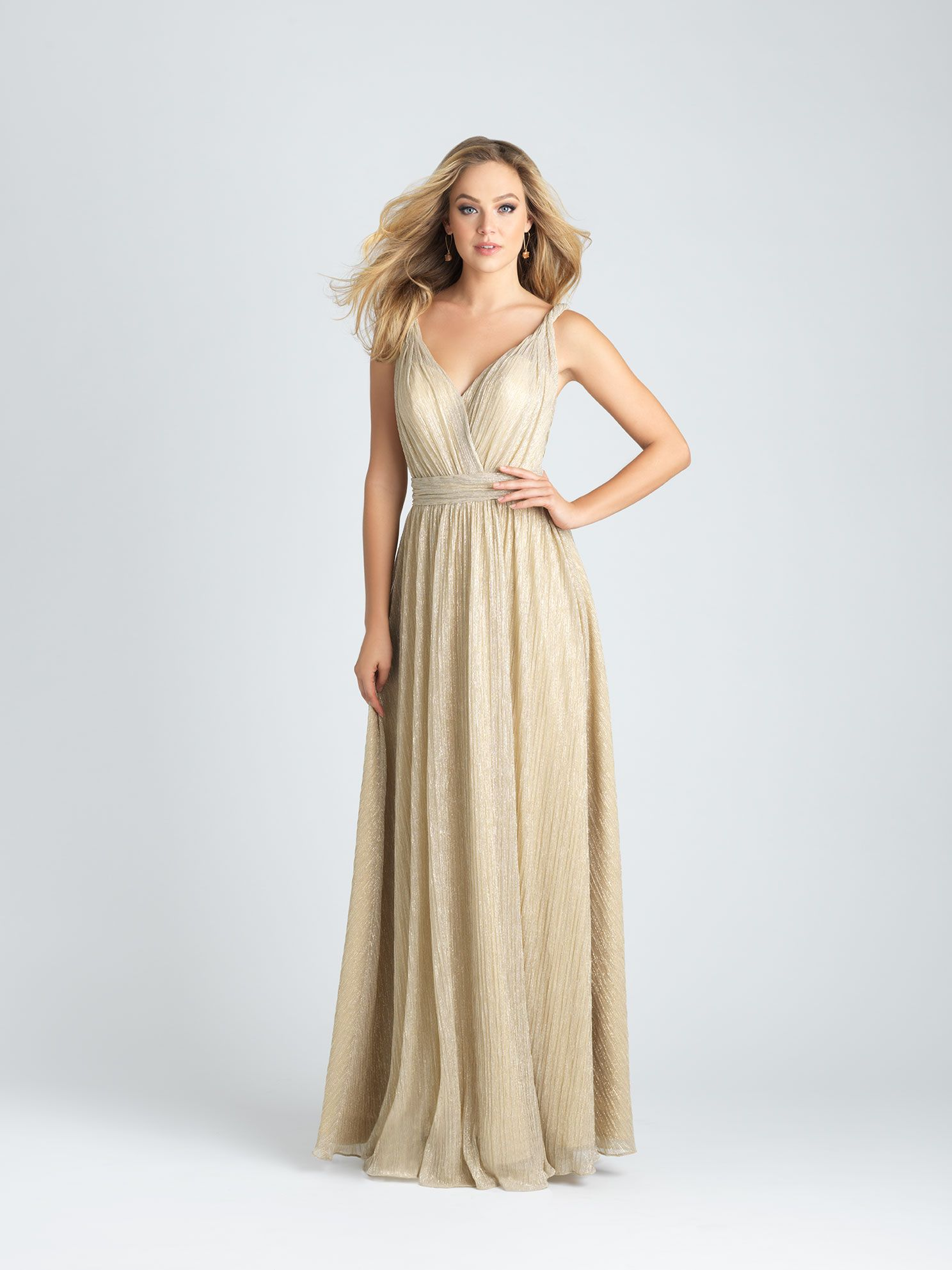 Style: 1516. We love a retro silhouette, and this shimmering gown ...