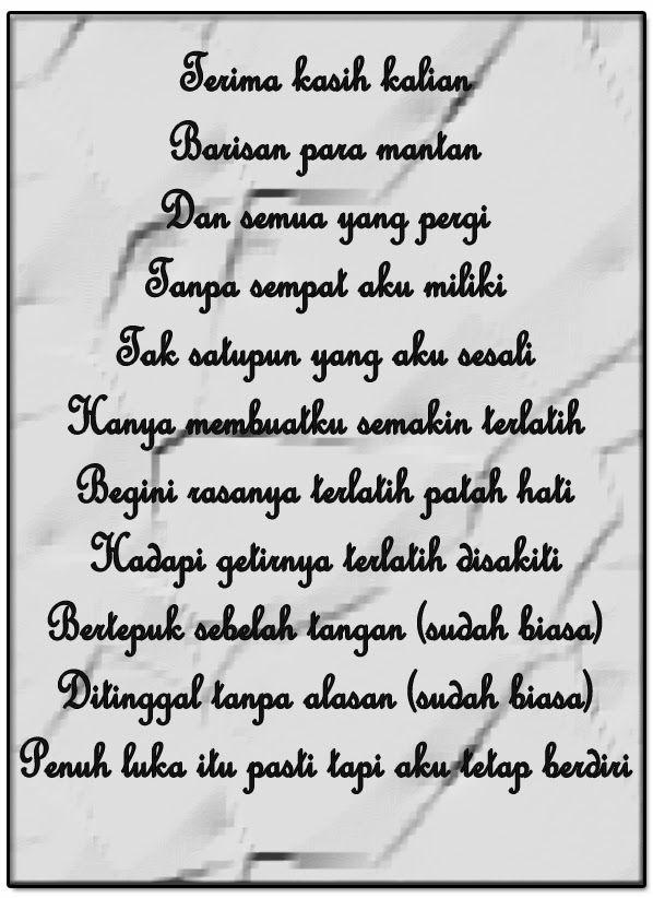 Lirik Barisan Para Mantan : lirik, barisan, mantan, Lirik, Terlatih, Patah