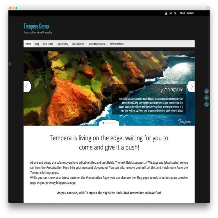 Tempera-photography-wordpress-theme | Portfolio Wordpress Themes ...