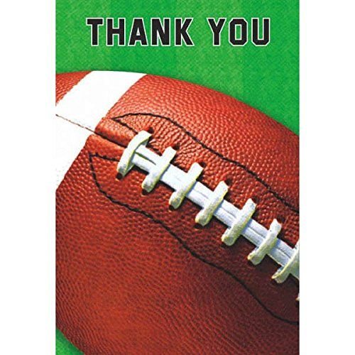 Amscan Football Fan Birthday Party Thank You Cards 8 Piece