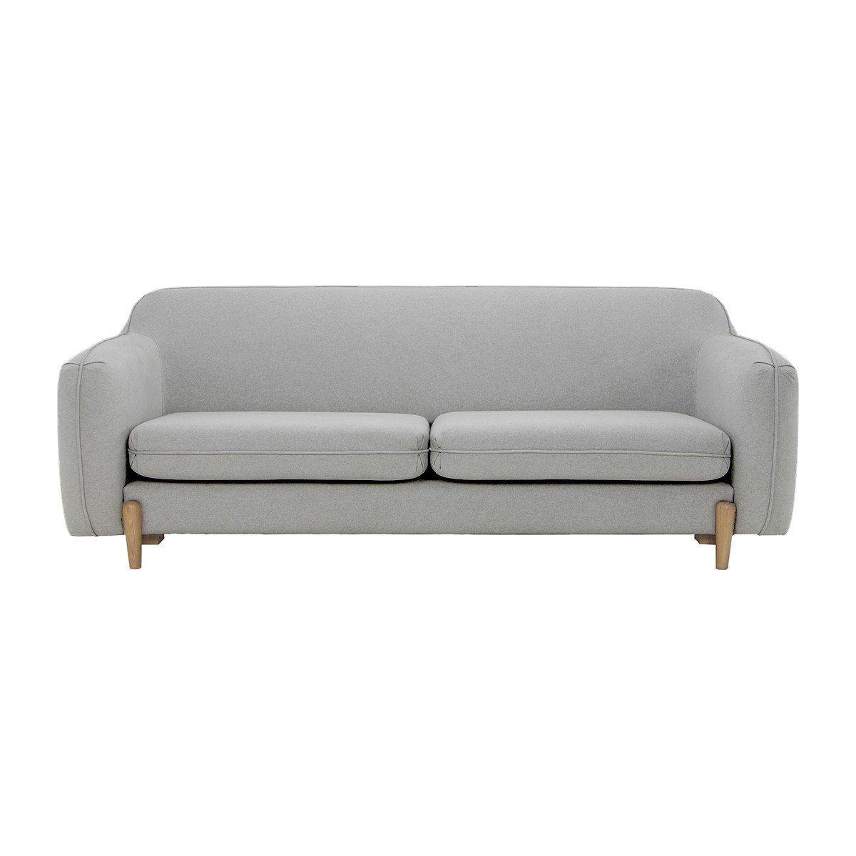 Life Interiors Foldie 3 Seater Sofa Light Grey Modern Sofas