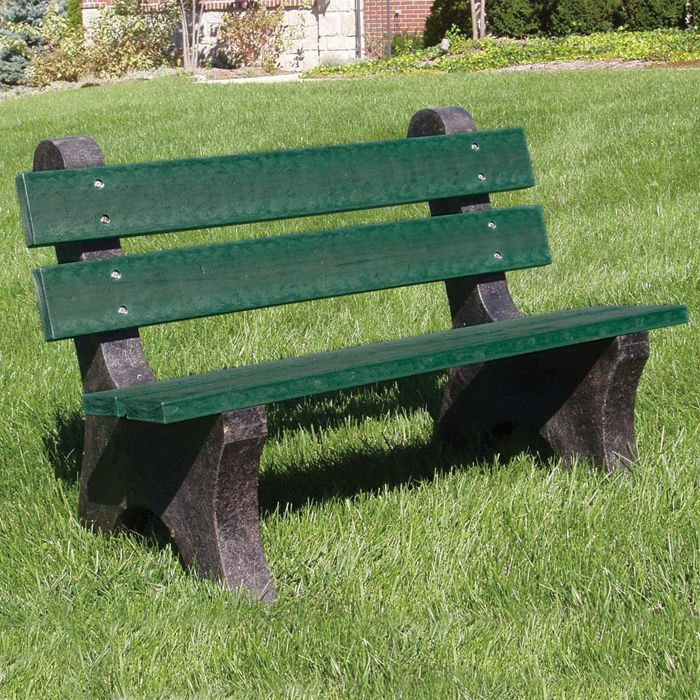 Frog Furnishings Colonial 6 Park Bench Park Bench Bench Plastic Lumber