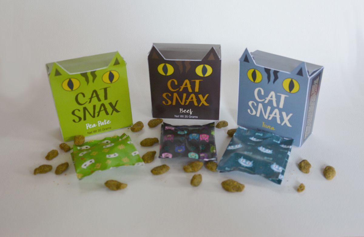 Cat #Snax #box #design on Behance