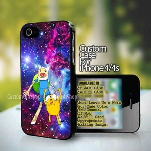 Adventure Time BMO Jake and Finn - design for iPhone 4 or 4S case