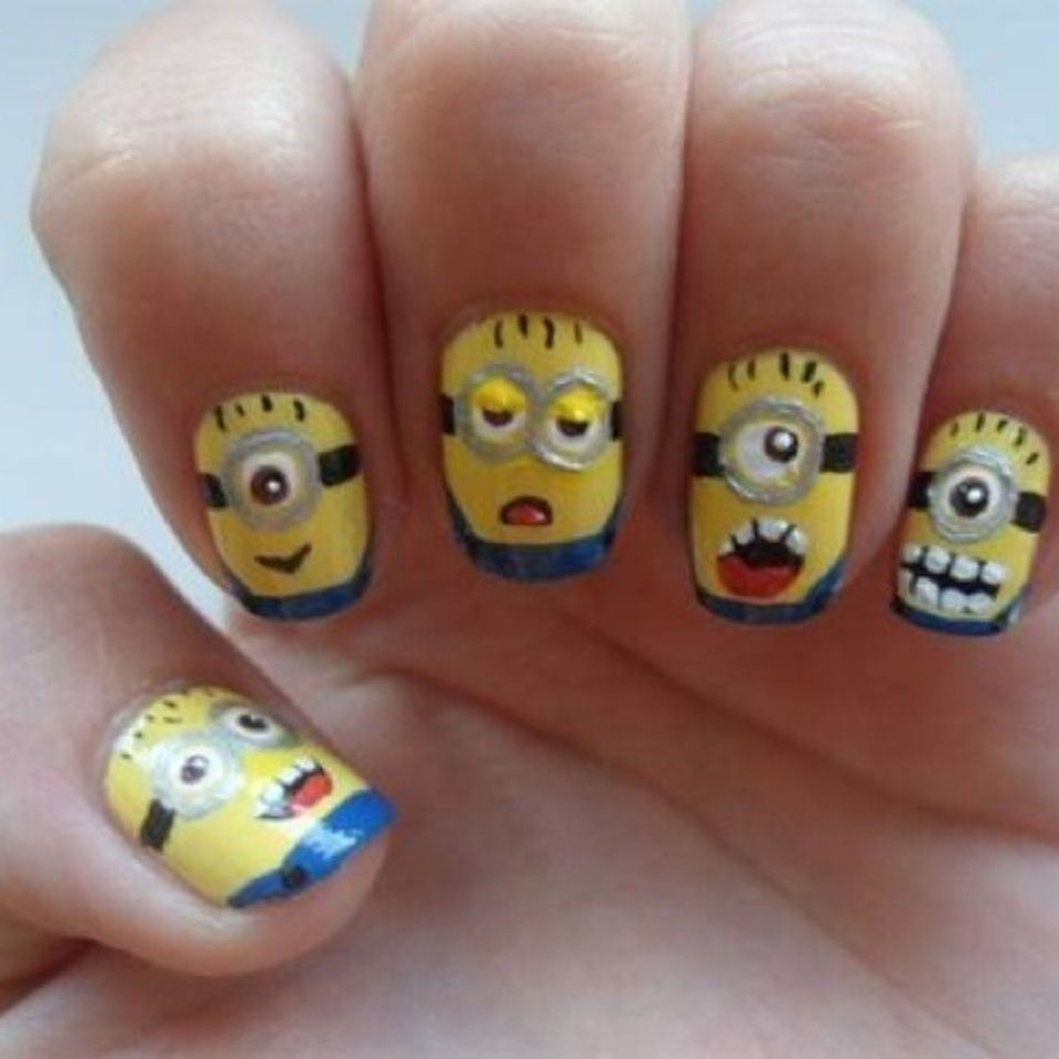 Despicable Me Nail Art | Nails | Pinterest | Nail nail, Make up and ...