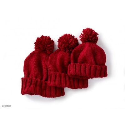 Free Easy Hat Knit Pattern For Entire Family Sizes 24 Yrs Through