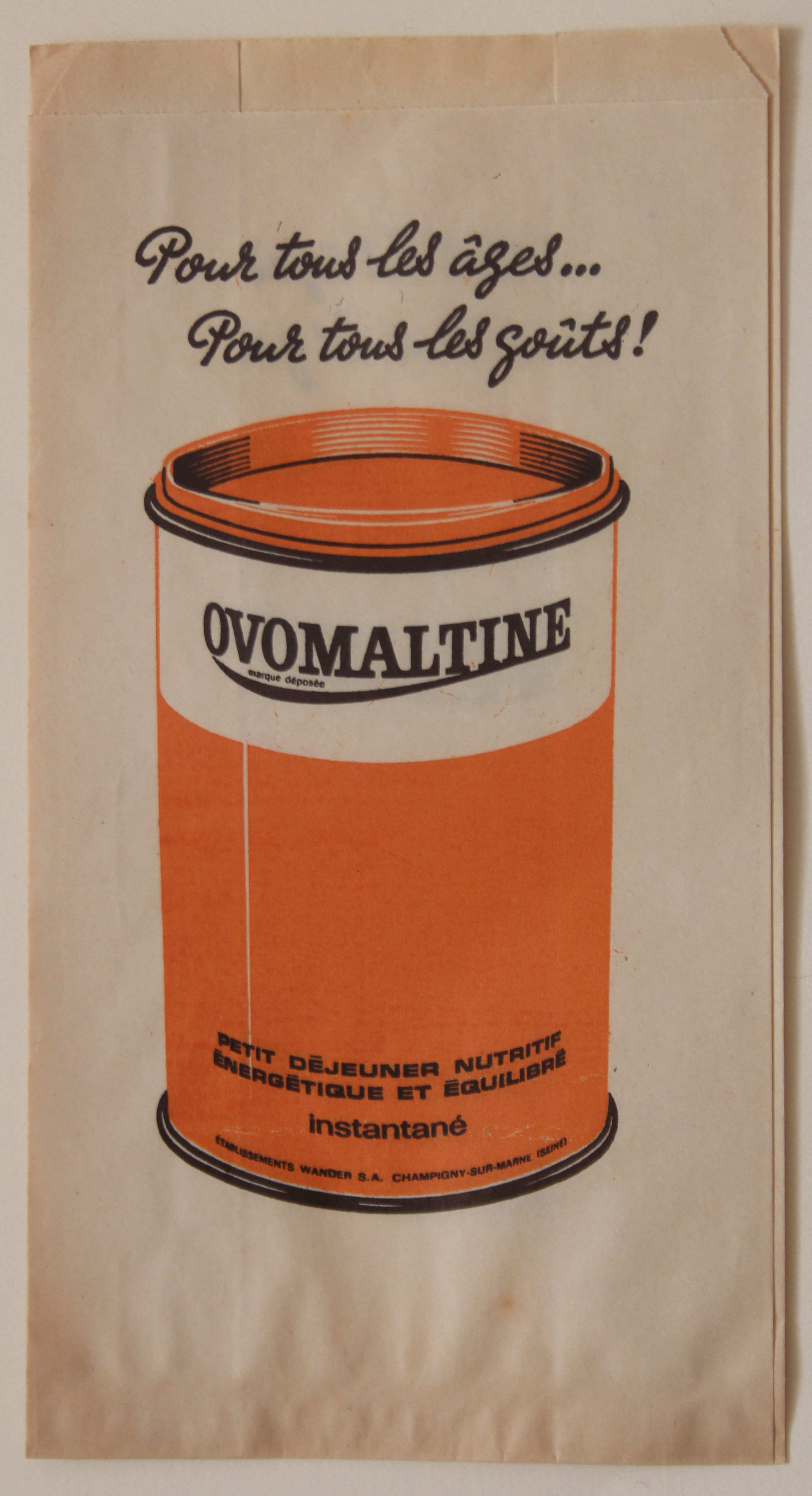 Ovalmaltine Paper Bag France via Becky Baur Paper bag