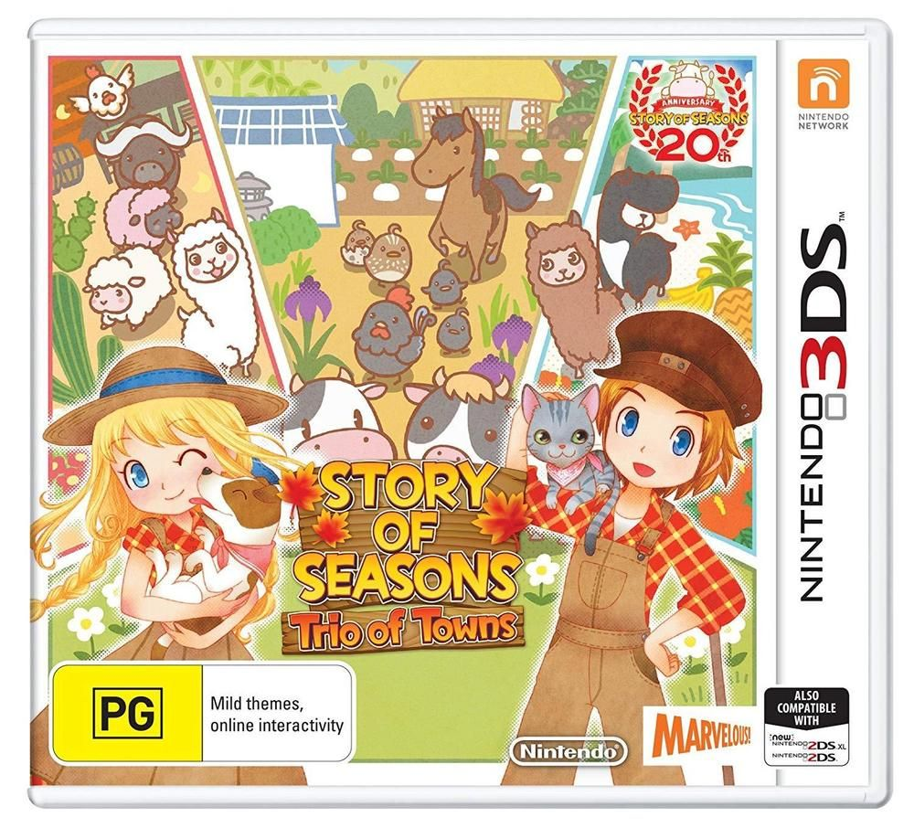 Details about Story of Seasons Trio of Towns Farming Life