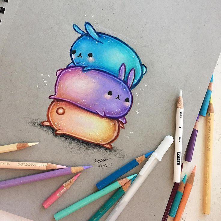 """Photo of muss ich mal  machen ✿ Zeichnungen ✿ auf Instagram: """"• Hallo zusammen! ? • • Hier sind einige pastellfarbene Hasen…"""