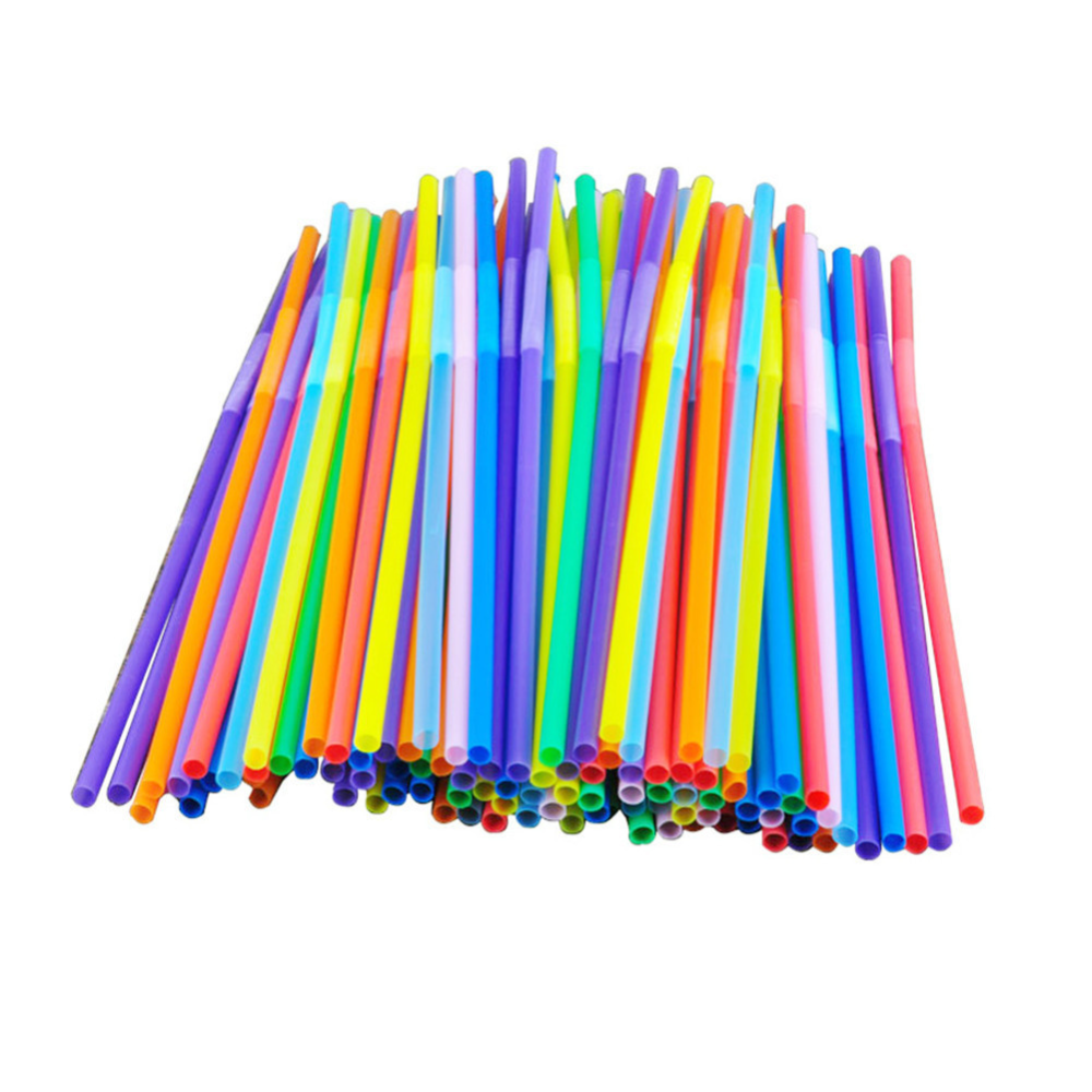 3 39us 23 Off 100pcs Multicolor Food Grade Pp Plastic Bar Party Drinking Straws Flexible Bendable Valentine S Day Birthday Party Wedding Decor Disposable Par Tea Diy Bubble Painting Painting Activities