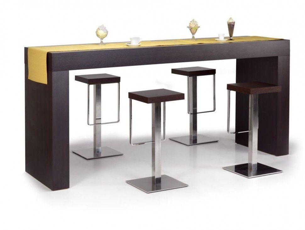 Decorations Modern Minimalist Tables For Bars Using Chrome Legs