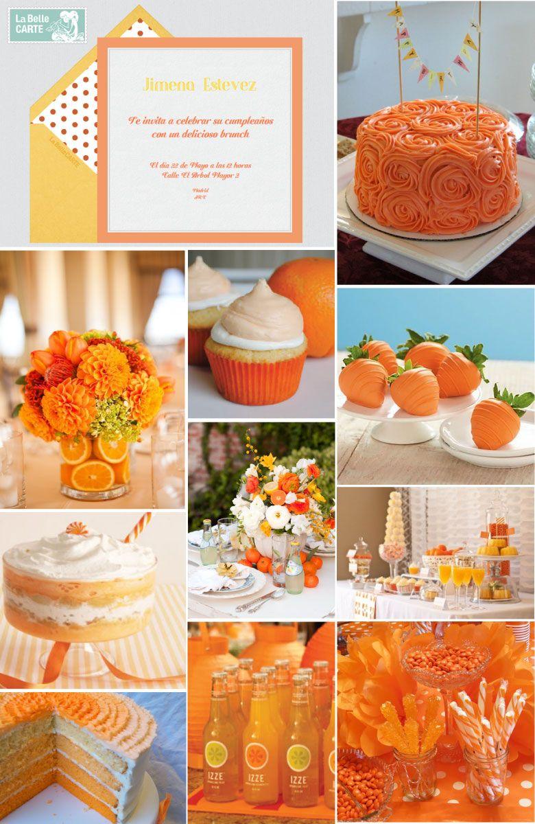 Invitaciones de cumplea os invitaciones para cumplea os for Decoracion naranja