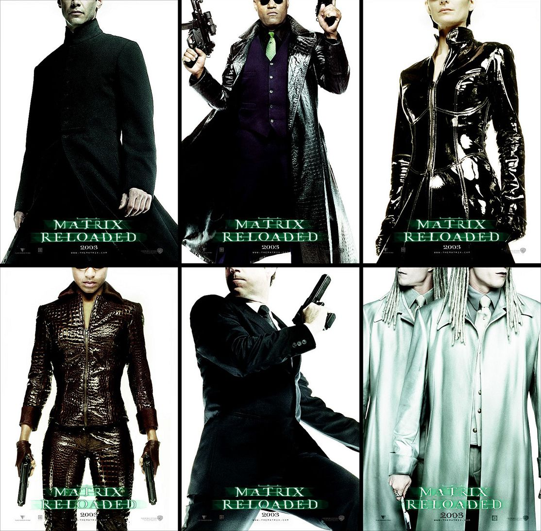 Kick-ass teaser poster series from The Matrix Reloaded (2003)
