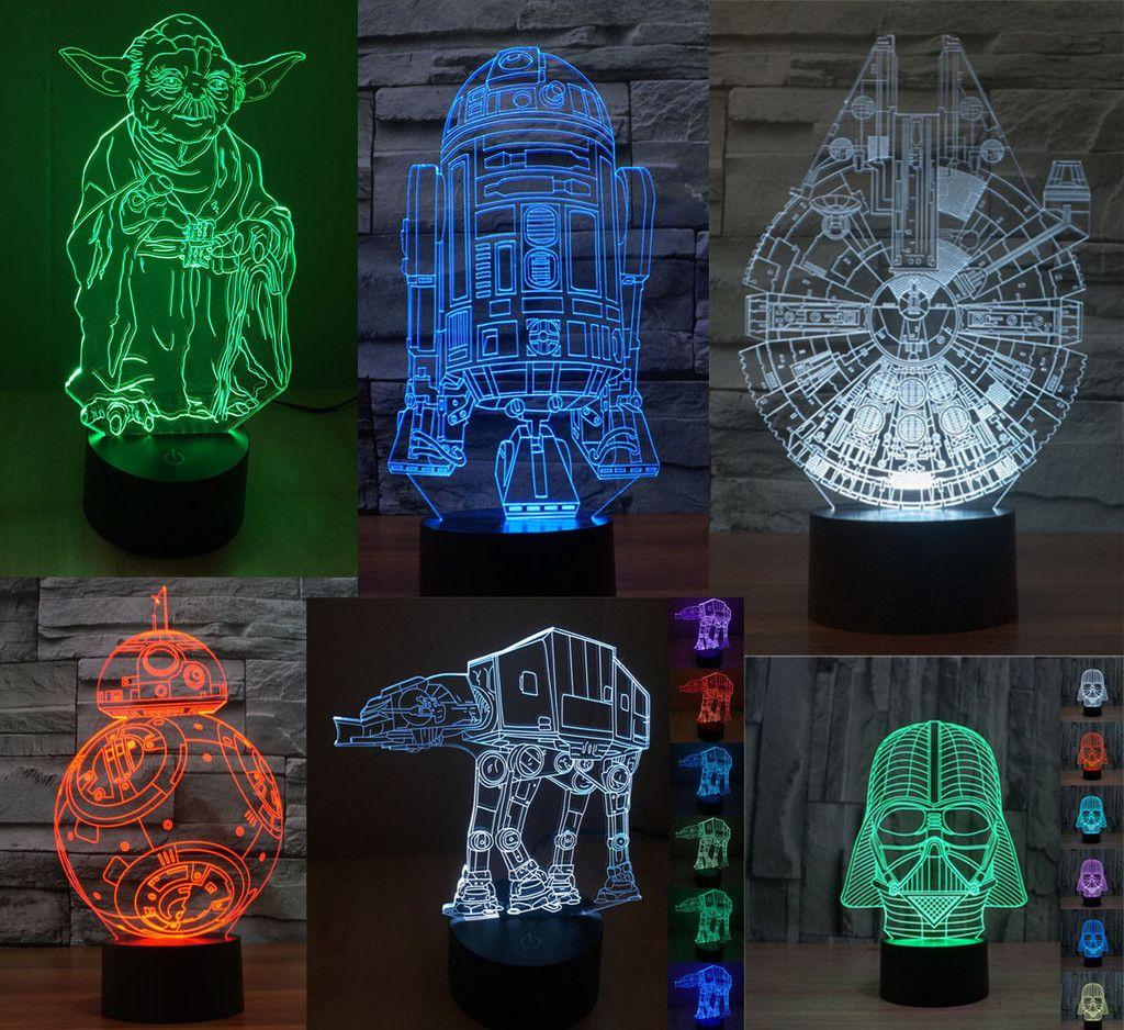 Star Wars 3d Led Lights Free Shipping For A Limited Time 3d Led Light Star Wars Light Interior Led Lights