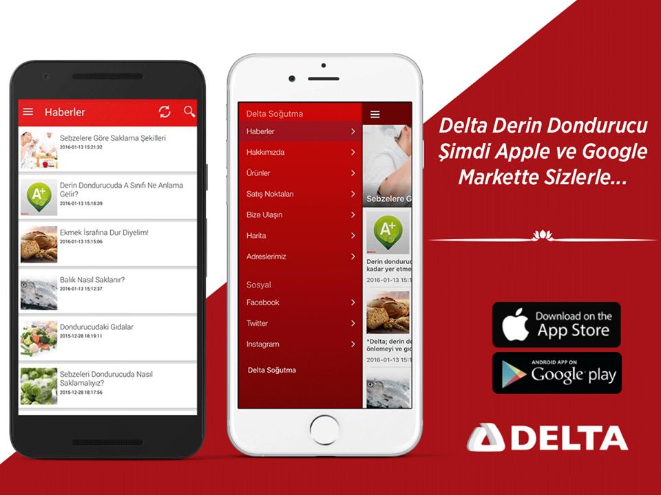 Delta Soğutma Yeni Uygulaması Ile Apple App Store Ve