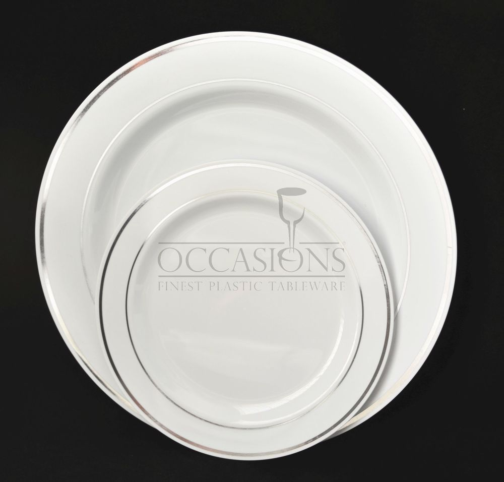 Bulk Wedding Party Disposable dinnerware Heavyweight China / plastic plates : china like plastic plates bulk - pezcame.com