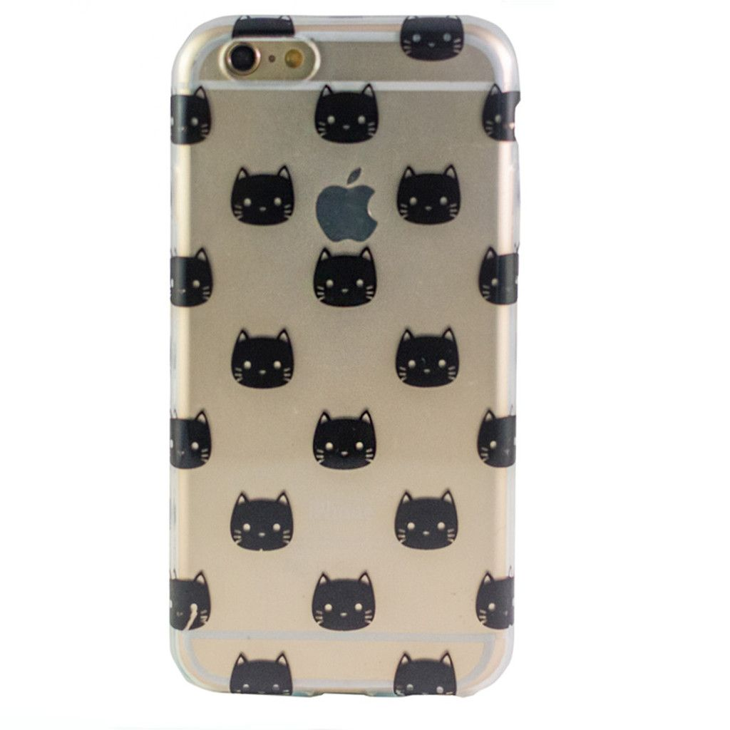 Clear Black Kitty Iphone 6 Case Cool Iphone Cases Case Iphone 6 Case