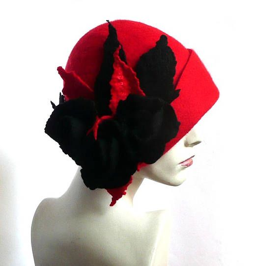 Mini Red Top Hat Mad Hatter Costume Flapper Feather Womens Adult Fancy Dress