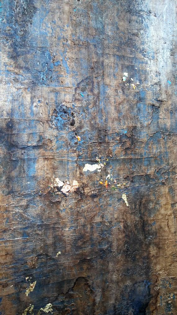 Original Rustic Gold Leaf Abstract Texture Painting 24 x 30