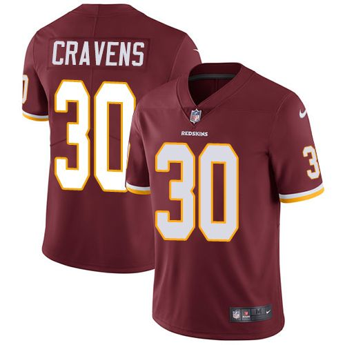 Youth Nike Washington Redskins #30 Su'a Cravens Limited Burgundy Red Team  Color NFL
