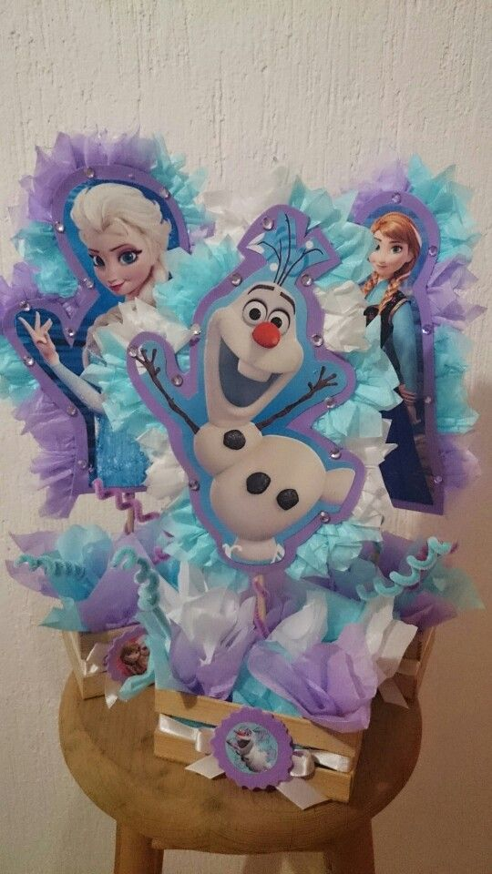 Centros de mesa de frozen fomi pinterest frozen party fiesta frozen and fiestas - Centros de mesa de frozen ...