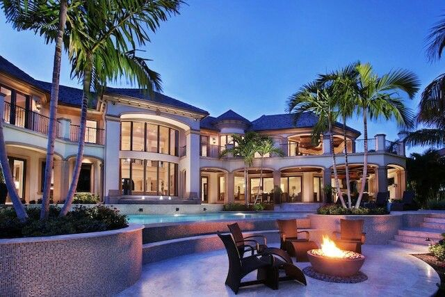 Waterfront mansion in naples residential changes x2 for Elegant luxury homes