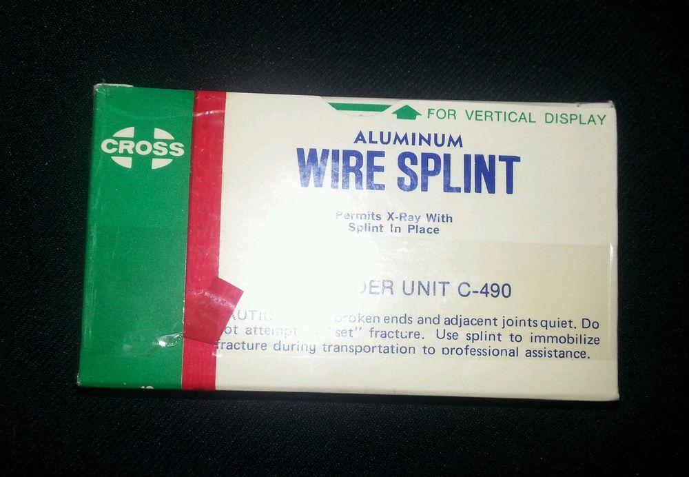$1.99 CROSS Aluminum wire splint First Aid Medical Supply vtg pharmacy new old stock #Cross