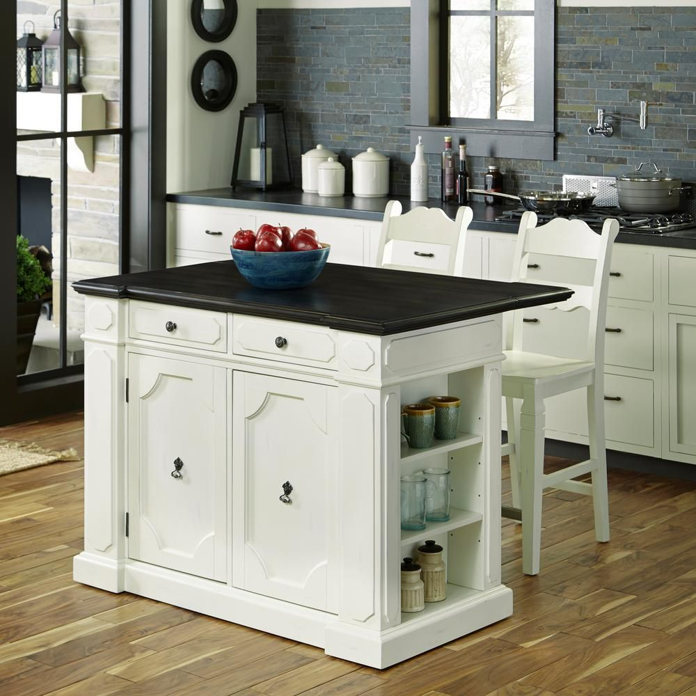 Jcpenney Furniture Kitchen Islands Home Styles Fiesta Weathered White Kitchen Island With Seating