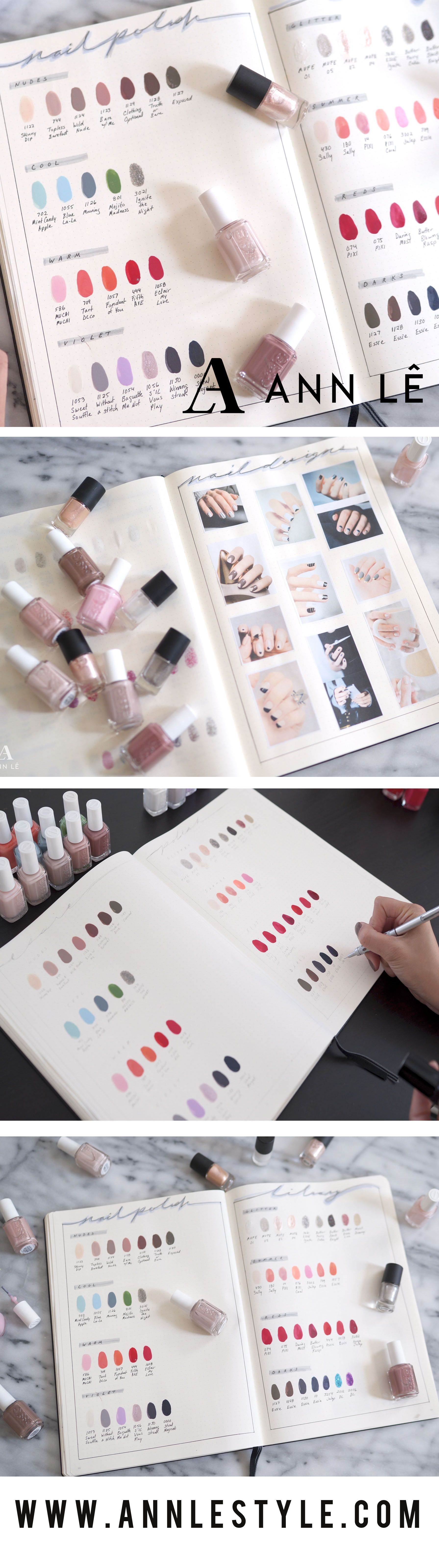 Nail Polish Library | Bullet Journal Set Up – Ann Le Style | DIY by ...
