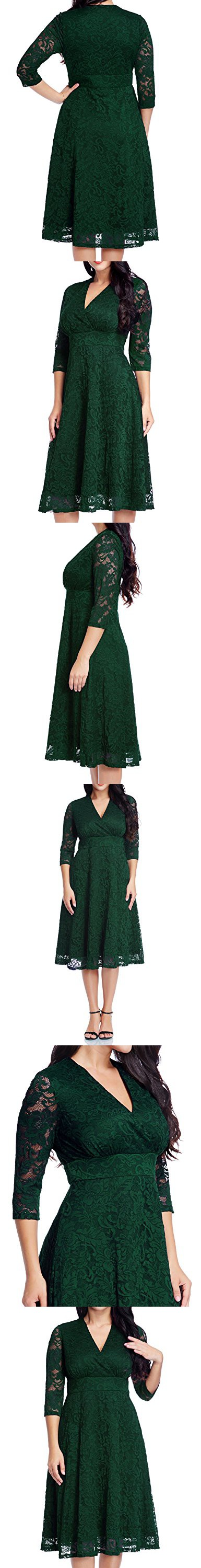 Women's Lace Plus Size Mother of the Bride Skater Dress Bridal Wedding Party Green 22W